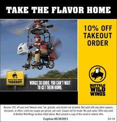 Free buffalo wild wings coupons