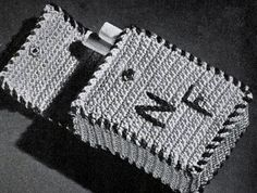 Cigarette Case crochet pattern from Ideas for Gifts, originally published by Coats & Clark, Book 255, in 1949.