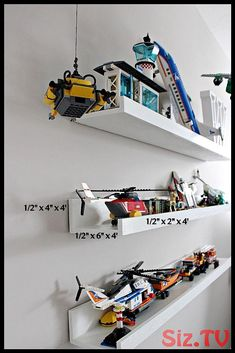 Diy Lego Display Shelf is part of Shelf Organization Bedroom - Hi all! I'm so excited to share with you this super simple and easy DIY Lego Display Shelf! This shelf was inspired by Pottery Barn's Picture Ledge Shelf Wi… Lego Display Shelf, Lego Shelves, Lego Storage, Storage Organization, Storage Design, Lego Minifigure Display, Book Shelves, Storage Shelves, Storage Ideas