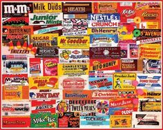 b2bdaf5e86f New White Mountain Puzzles Candy Wrappers - 1000 Piece Jigsaw Puzzle Free  Ship