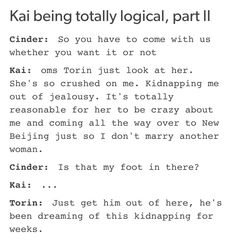 Lol Kai is so adorable.. When I read that part of kidnapping I imagined him saying Yay! Finally!!
