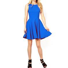フルサークル・スケータードレス #Party #Wedding #Dress #Blue