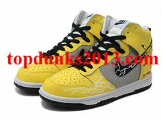 big sale 9b814 b2f68 Cartoon High Top Nike Pikachu Pokemon Dunk Yellow Black Internet Sales  Original Air Jordans, Top