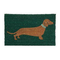 Natural Coir Non Slip Floor Entrance Door Mat Outdoor Doormat Sausage dog  | eBay