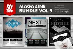 Magazine Bundle 9 by Luuqas Design on Creative Market