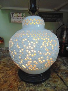 FREDERICK COOPER WHITE Asian GINGER JAR MID CENTURY HOLLYWOOD REGENCY LAMP