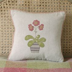 Susie Watson Designs: Rose Auricula Cushion