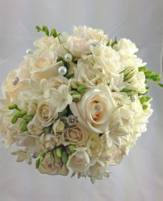 Beautiful hand tied bridal bouquet