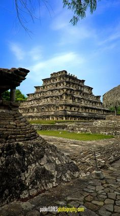 Pyramid of the Niches in El Tajin, Mexico