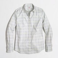 J.Crew Factory - Factory printed stretch classic button-down shirt