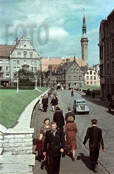 История и современность - Таллин в 1954 и 1960 г. на цветных слайдах