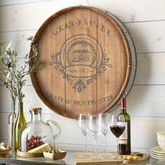Wine Barrel Wall Decor | Pier 1 Imports