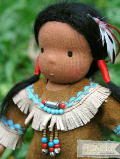 Native American doll made by Lalinda.pl