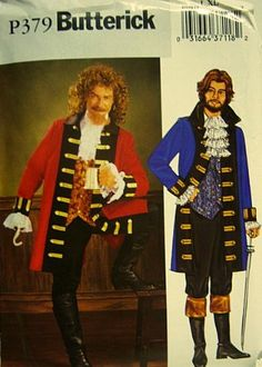Butterick P379 Historical Costume Pattern, Pirate Captain Mens Size L, XL (42-48) by Butterick, http://www.amazon.com/dp/B007NXU2GO/ref=cm_sw_r_pi_dp_OSCpsb1CYR38E