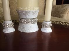 unity candle holder unity candle stand candle by TheCrystalFlower, $68.00