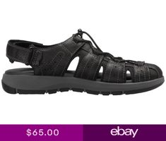 b76e06dd7ad Mens Clarks Sandals Brixby Cove Black Leather 26133891