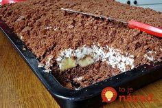 Fantastický recept na krtkovu tortu z hrnčeka, na ktorej si pochutná celá rodina! Potrebujeme: 2 šálky polohrubej múky (240 ml) 1 šálka práškového cukru 1 prášok do pečiva 1 vanilkový cukor 4 lyžice kakaa 1 šálka mlieka 1 šálka oleja 2 vajcia Krém: 300 ml mlieka 1 banánový puding 4 lyžice cukru 500 ml smotany... Tiramisu, Pudding, Sweets, Ethnic Recipes, Food, Basket, Bakken, Cream Puff Dessert, Food Ideas