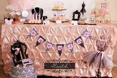 Paris Birthday Party Package - Printable Party Decorations - Paris Party  Blog:: www.LillianHopeDesigns.com   This Fashionista in Paris Party