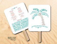 Wedding Fan Program Blank Kit By Wreathartist