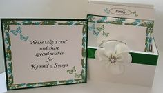 Garden Wedding/Butterfly Theme Wedding Guest Book Box and Cards is the perfect size to display at your wedding and new home as a married couple.