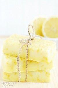 Homemade Lemon Soap  http://apumpkinandaprincess.com/2013/05/homemade-lemon-soap-mothers-day-gift-ideas.html