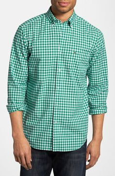 Love the green gingham