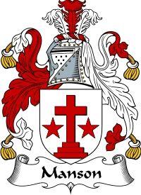 Manson Coat of Arms / Manson Family Crest