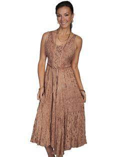 Cowgirl Dresses   Dresses   Beige Sleeveless Western Dress   Diamond Diva Apparel
