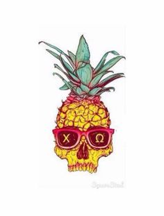 chi omega pineapple canvas