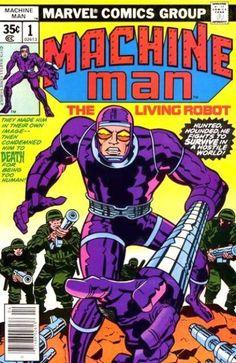 Le comics Machine Man, créé par Jack Kirby chez Marvel