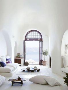 Mediterranean White living room