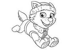 Paw Patrol Coloring Pages Everest - HiColoringPages