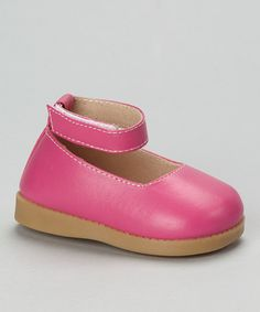 Look at this #zulilyfind! Hot Pink Squeaker Ankle-Strap Flat by Sneak A' Roos #zulilyfinds