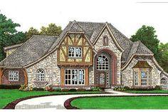 Tudor Exterior - Front Elevation Plan #310-656 - Houseplans.com