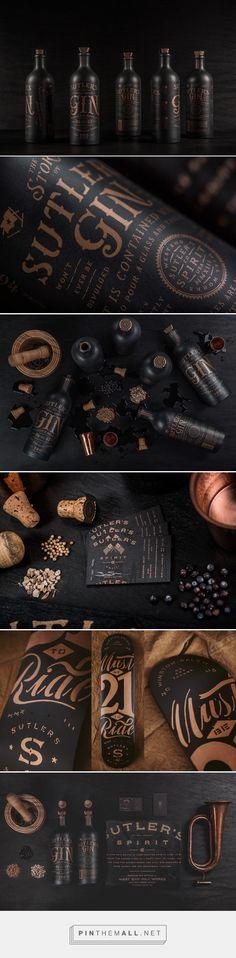 Sutler's Spirit Co. gin packaging on Behance by Device Creative, Winston-Salem…