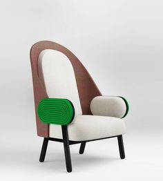 'Moon I-B', Contemporary Armchair with a Vintage Twist in Kvadrat Upholstery