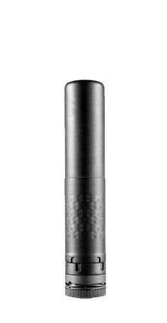 """Saker 7.62 The Saker 7.62 offers outstanding sound suppression- as low as 126 dB with subsonic blackout. With our Stellite™ baffle system, the Saker 762 is over 30% more durable than our competitors Inconel® suppressors. WEIGHT: 20.7 OZ, DIAMETER: 1.500"""", LENGTH: 7.50"""", SOUND REDUCTION: .300 BLK Subsonic - 126 dB .308 - 139 dB, FINISH: Black Oxide, MOUNT: Trifecta Muzzle Brake Mount, FEATURES: Full Auto Rated ( Functions with 5.56 also)"""