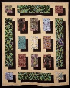 Pattern to Order: fabric shadow showcase quilt