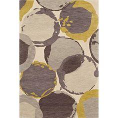 Abstract Circles Wool/Banana Viscose