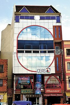 """Freddy Mamami Silvestre's New Andean Architecture """" The Bolivian architect Freddy Mamani Silvestre doesn't have an office, use a computer, or draw formal blueprints. He sketches his plans on a wall or..."""