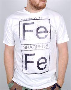 Iron - Christian Mens Shirts for $19.99   C28.com @Matt Markarian Needs this shirt more than words can say lol