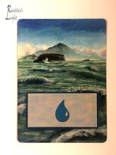 Island - Full Art Land - MTG Alter - Revelen's Light Altered Art Magic Card