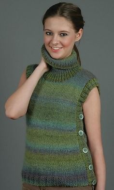 Knitting Patterns Vest Sherwood knit turtleneck vest pattern, free from Universal Yarn Capelet Knitting Pattern, Knit Vest Pattern, Knitting Machine Patterns, Lace Knitting, Knit Patterns, Crochet Eyes, Christmas Embroidery Patterns, Universal Yarn, How To Purl Knit