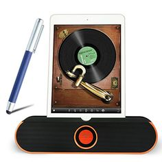First2savvv LY-i806-07B3 orange Portable rechargable wireless bluetooth speaker handsfree desktop stand dock dockting station with NFC, AUX Jack, perfect for Samsung Galaxy S6 Galaxy Note Edge Galaxy Note 4 Galaxy Note 3 Galaxy Note 2 Galaxy S5 mini Galaxy S5 Galaxy ALPHA Galaxy K zoom Galaxy S4 Galaxy S4 mini Galaxy A3 Galaxy A5 GALAXY CORE Max with blue stylus pen. This bundle listing includes:1 x LY-i806-07 orange bluetooth speaker + 1 x blue stylus pen B3. Pair devices via Bluetooth…