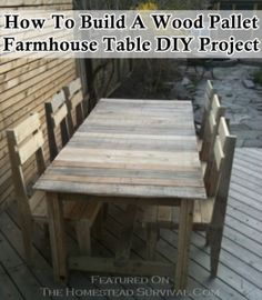 The Homestead Survival | How To Build A Wood Pallet Farmhouse Table DIY Project | http://thehomesteadsurvival.com