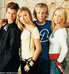 Jump5 - this band was my MAJOR obsession when I was like 14-15 or so. Not really my style anymore, but they're kinda stuck in my heart now. (From left to right: Chris Fedun, Brittany Hargest, Brandon Hargest, Leslie Moore)