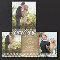 Lacy News Wedding Save the Date 40% OFF | http://mediaplus.carlsoncraft.com/Wedding/Save-the-Dates/1080-WR39037-Lacy-News--Save-the-Date.pro  |  WR39037 Share the news of your setting the date in a pretty and romantic way by sending this petite, lace photo save the date.
