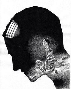 A pior prisão é a da mente.  #acreditar #pensamento