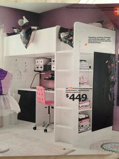 Ikea Fall 2014. STUVA twin loft bed with three drawers, wardrobe, and interior organizers 449$.