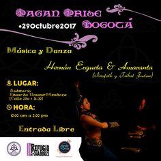 "Hernan Ergueta junto a Amaranta Dancer en el ""Pagan Pride 2017"" – Bogotá #Paganpride #Bogota coven wicca colombia #Colombia #Pagana Auditorio Eduardo Umana (calle 25a #31-30) 29 de noviembre 2017 / De 10 a 14:00 Entrada Libre #HernanErgueta"